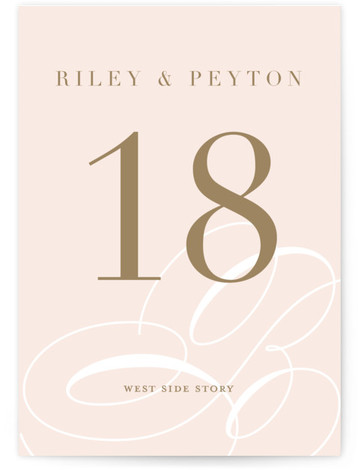 This is a portrait bold and typographic, modern, pink Table Numbers by Lauren Chism called Fresh Monogram with Standard printing on Luxe Museum Board in Classic Flat Card format. Table numbers come in a flat or folded format. Select from ...