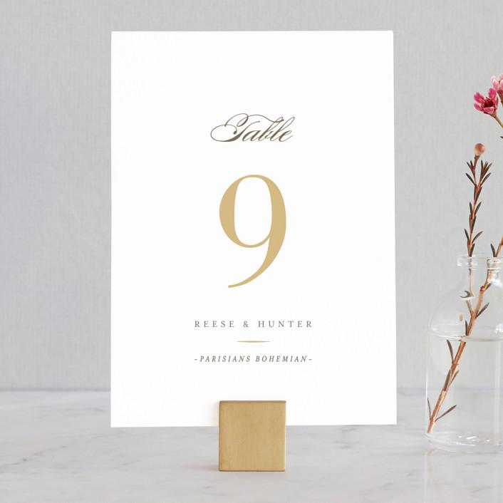 """Valencay"" - Elegant, Classical Wedding Table Numbers in Silk by chocomocacino."