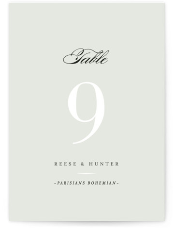 This is a portrait classical, elegant, formal, simple, traditional, grey Table Numbers by chocomocacino called Valencay with Standard printing on Luxe Museum Board in Classic Flat Card format. Table numbers come in a flat or folded format. Select from our ...