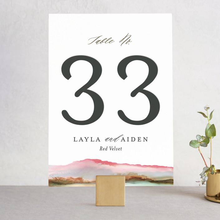 """Sedona"" - Rustic, Bohemian Wedding Table Numbers in Desert Sands by Itsy Belle Studio."