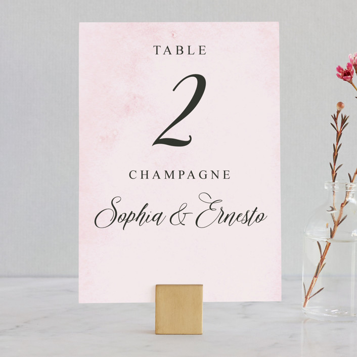 """Garden Party Joy"" - Wedding Table Numbers in Blush by frances."