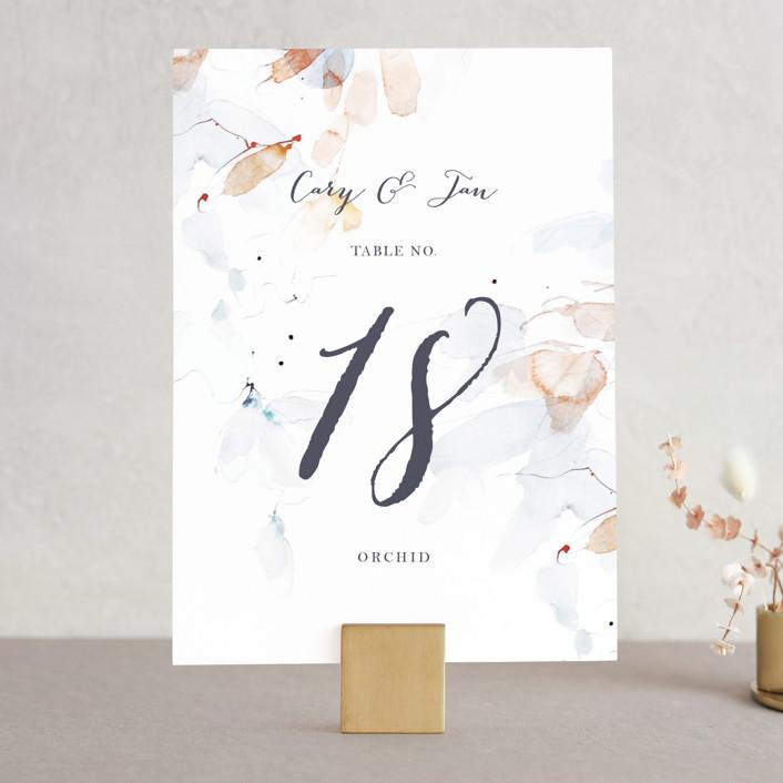 """Petale"" - Wedding Table Numbers in Blush by Kelly Ventura."
