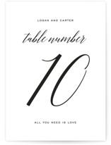 Someone Like You Wedding Table Numbers