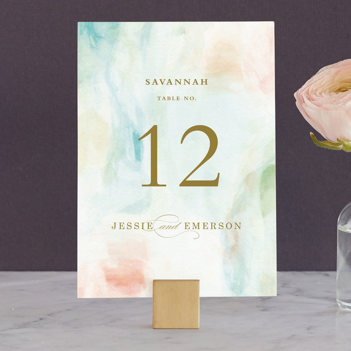 """""""Sway"""" - Wedding Table Numbers in Mint by Angela Marzuki."""