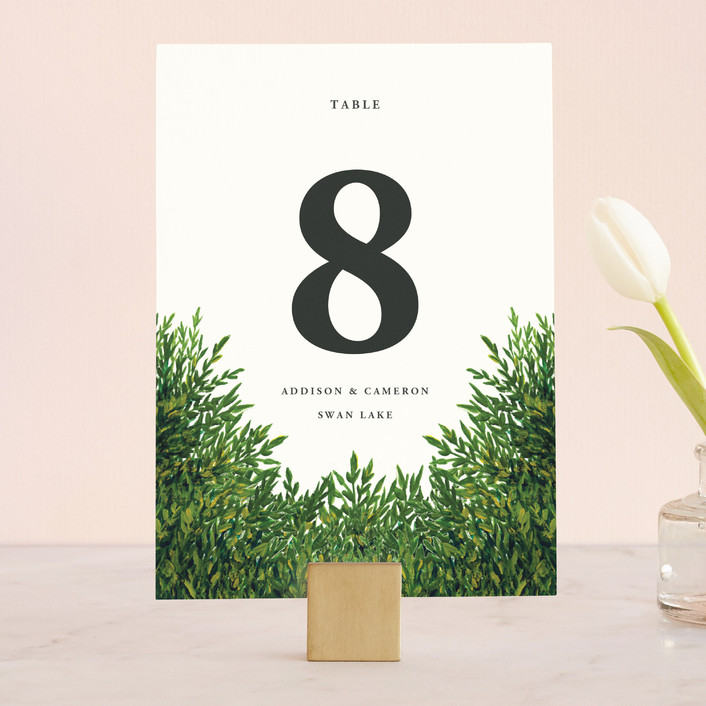 """""""The Garden"""" - Wedding Table Numbers in Cream by Elly."""