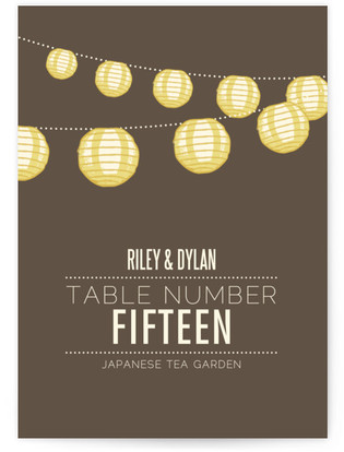 Paper Lanterns Table Numbers