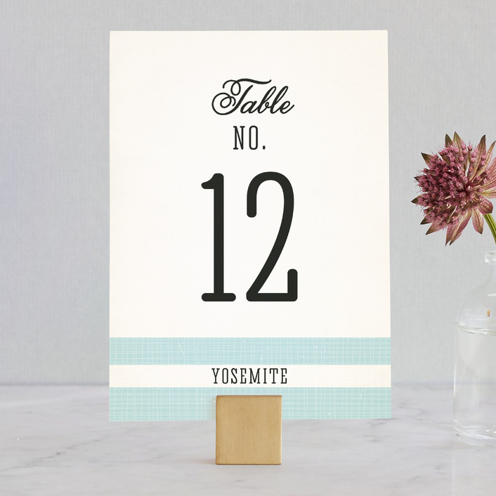 """""""Winsome"""" - Wedding Table Numbers in Lake by Paige Rothhaar."""