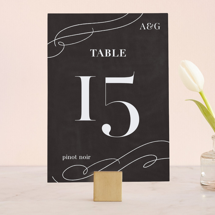 """Formal Glamour"" - Wedding Table Numbers in Chalkboard by Laura Condouris."