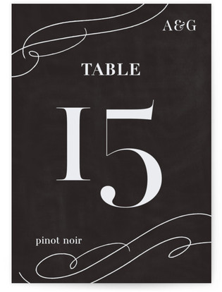 Formal Glamour Table Numbers