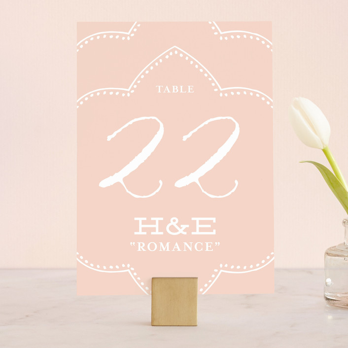 """""""Striped Sweet Nothings"""" - Vintage, Beach Wedding Table Numbers in Romantic by Frooted Design."""