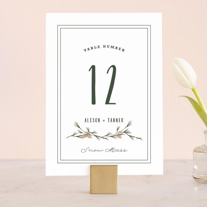 """""""Rustic Wedding"""" - Rustic Wedding Table Numbers in Pine by Susan Brown."""