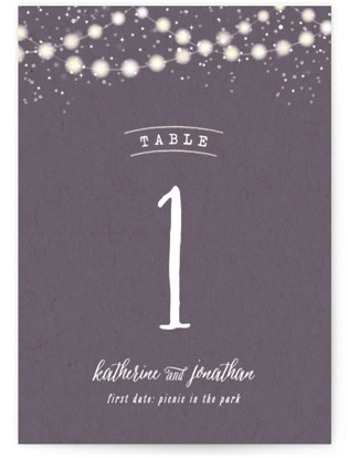 Garden Lights Table Numbers