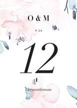 Florista Modernista Table Numbers By Petra Kern