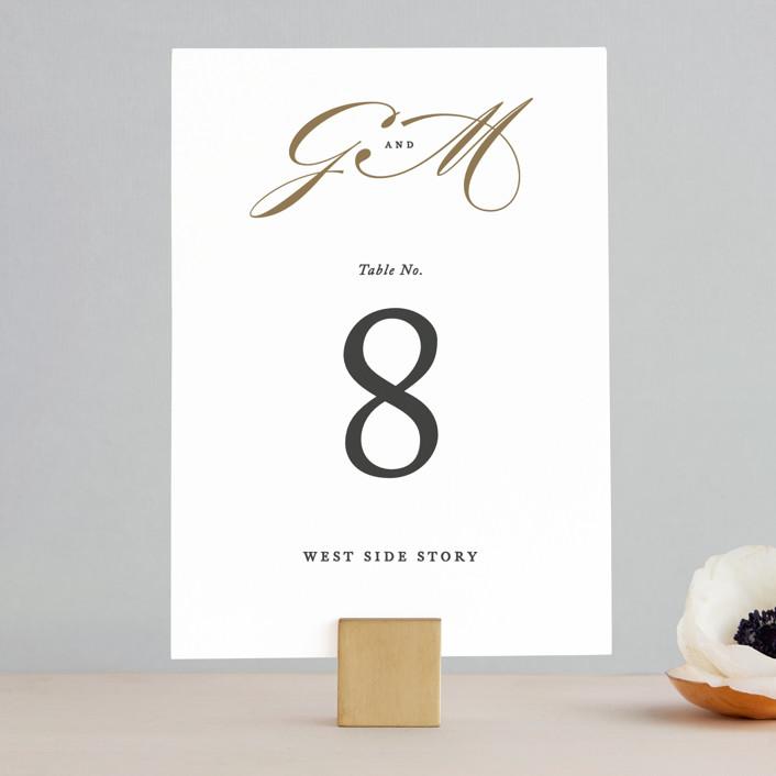 """Flourish"" - Wedding Table Numbers in Antique by Jennifer Postorino."