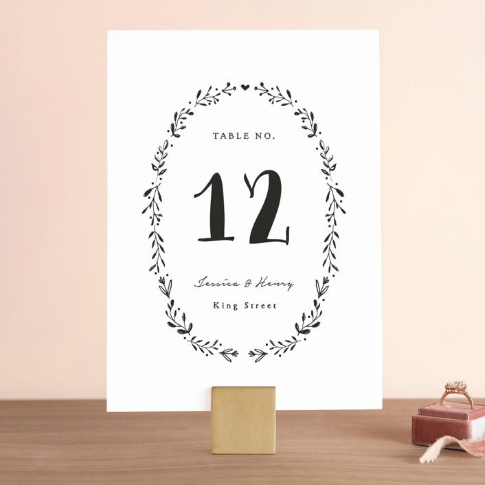 """Charleston"" - Wedding Table Numbers in Tuxedo by Susan Brown."