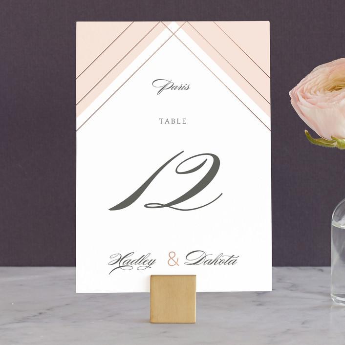 """Elegantly Lined"" - Wedding Table Numbers in Petal by Robin Ott."