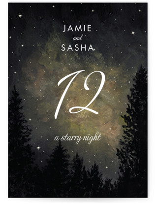 Starry, Starry Night Table Numbers
