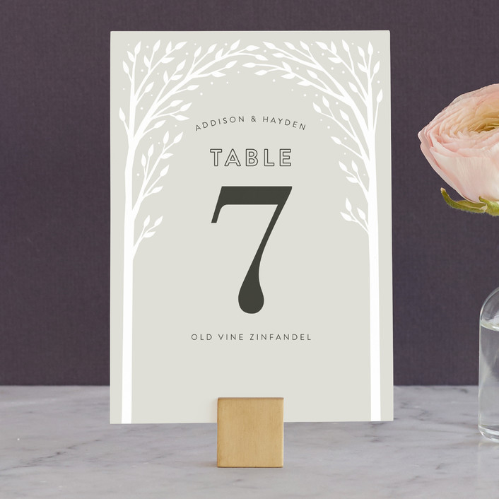 """Woodland Dream"" - Rustic, Hand Drawn Wedding Table Numbers in Linen by Jill Means."