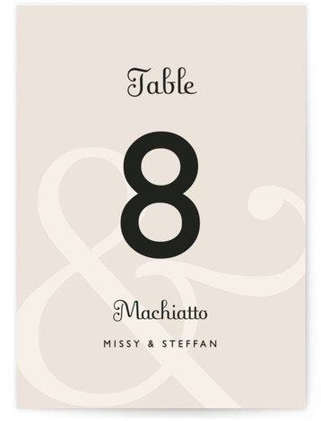 This is a portrait classical, pink Table Numbers by Lauren Chism called Ampersand with Standard printing on Luxe Museum Board in Classic Flat Card format. This modern design lets the ampersand take center stage. Simple and clean text gives this ...