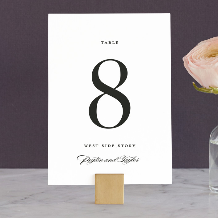 """""""Classic"""" - Wedding Table Numbers in Tuxedo by Lauren Chism."""