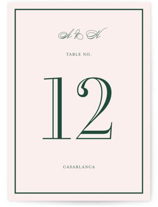 Hepburn Table Numbers