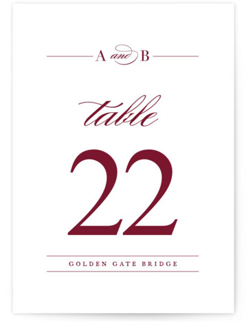 This is a white, red Table Numbers by Jennifer Postorino called divine with Standard printing on Luxe Museum Board in Classic Flat Card format. This typographic wedding invitation is sophisticated and elegant.