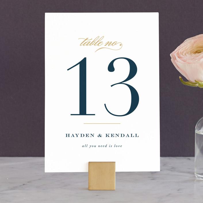 """""""Sullavan"""" - Wedding Table Numbers in Teal by carly reed walker."""