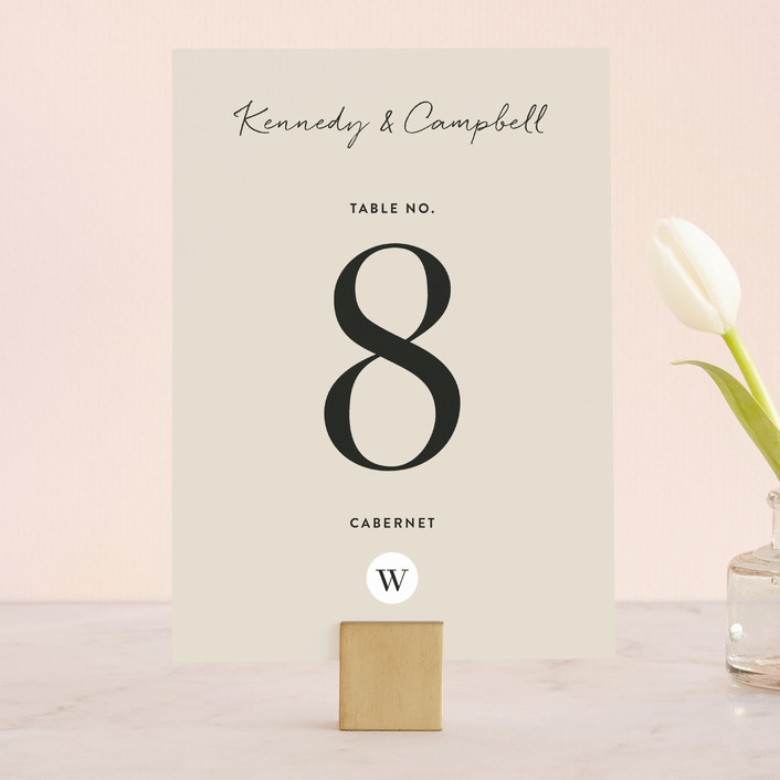 """Wedding Stamp"" - Wedding Table Numbers in Navy by Kasia Labocki."