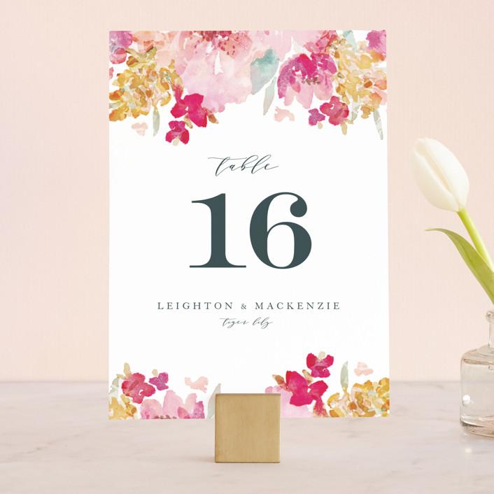 """""""Spring Garden"""" - Wedding Table Numbers in Petal by Grace Kreinbrink."""
