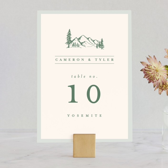 """Blue Ridge"" - Rustic Wedding Table Numbers in Pine by Amy Kross."
