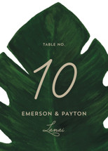 Palm Table Numbers By Kaydi Bishop