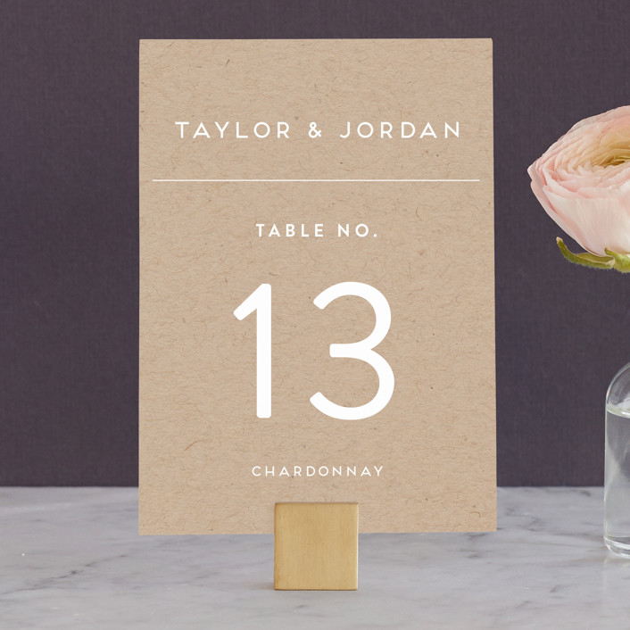"""""""Modern Stamp"""" - Wedding Table Numbers in Kraft by seulghi."""