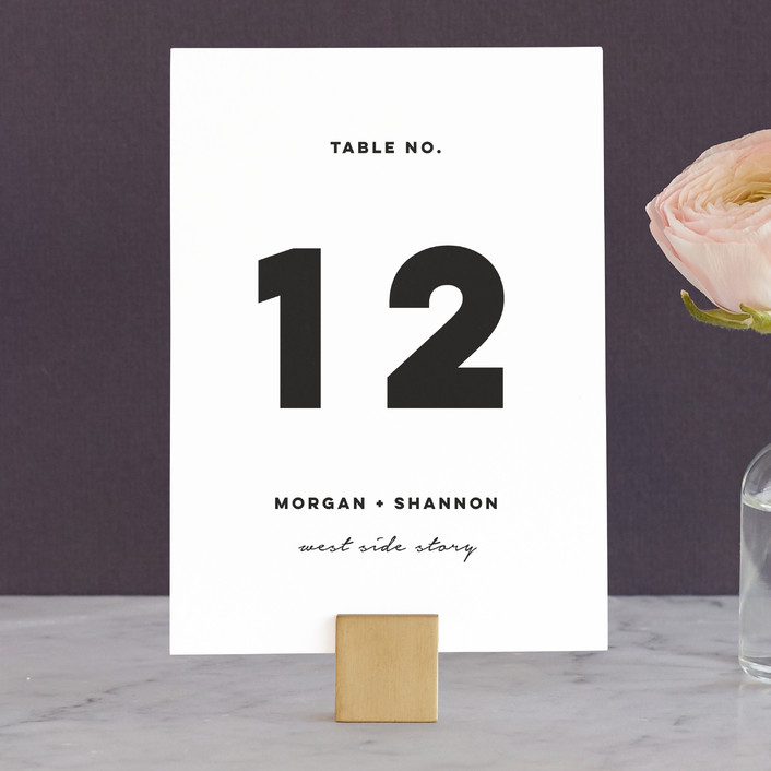 """""""Timepiece"""" - Wedding Table Numbers in Tuxedo by Susan Brown."""