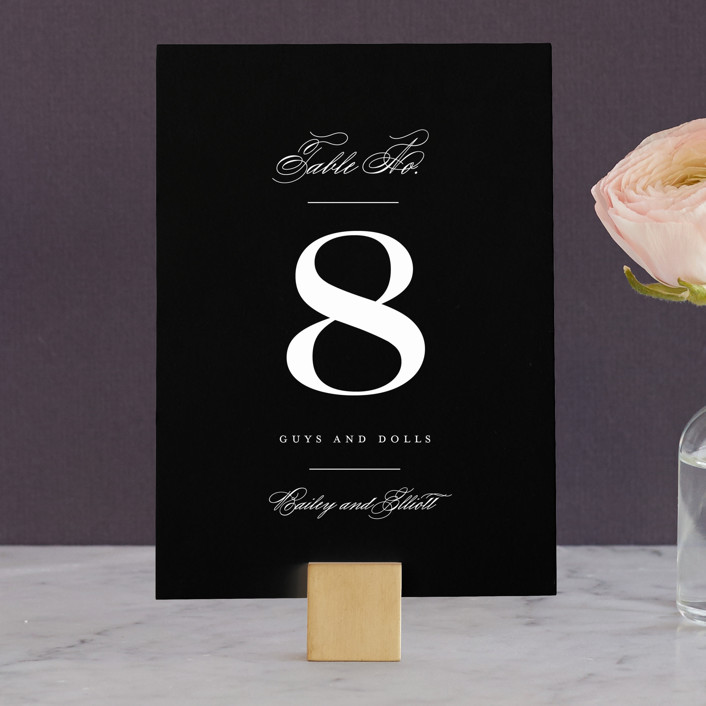 """""""Downtown"""" - Wedding Table Numbers in Onyx by Lauren Chism."""