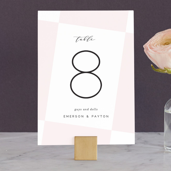 """""""Tilt"""" - Wedding Table Numbers in Blush by Lauren Chism."""