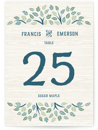 Under the Tree Table Numbers