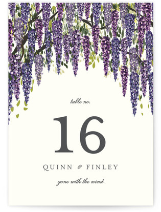 Wisteria Blooms Table Numbers