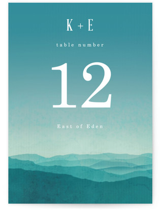 Misty Mountain Range Table Numbers