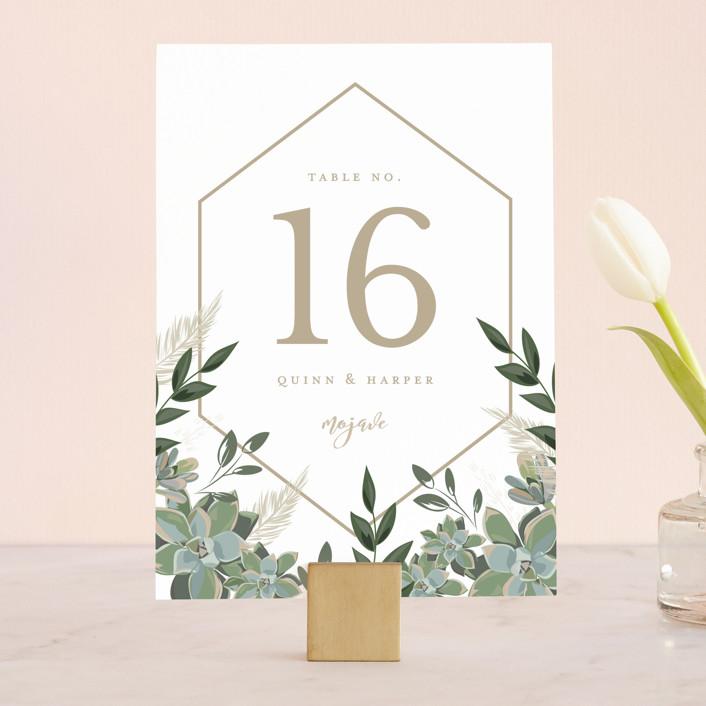 """""""Succulent Surround"""" - Wedding Table Numbers in Cloud by Susan Moyal."""