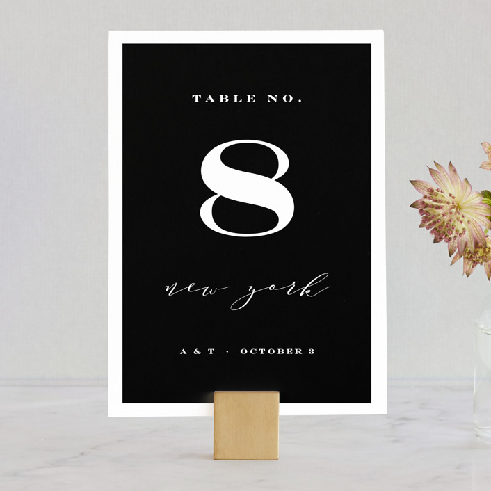 """Perspective"" - Wedding Table Numbers in Noir by Kimberly FitzSimons."