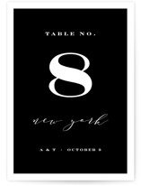 This is a black and white table number by Kimberly FitzSimons called Perspective with standard printing on doublethick in standard.