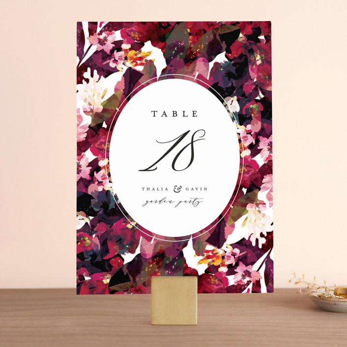 """""""Tidal Blooms"""" - Wedding Table Numbers in Holly by Grace Kreinbrink."""