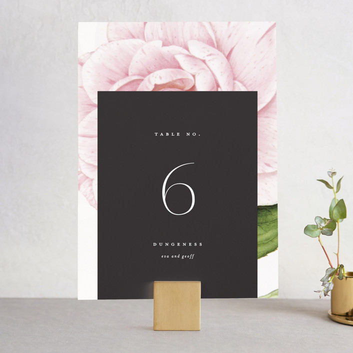"""Botanic"" - Wedding Table Numbers in Midnight by kelli hall."