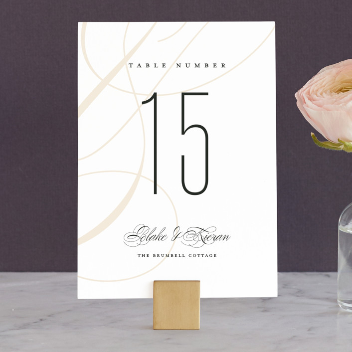 """""""Today & Always"""" - Wedding Table Numbers in Peach by Stacey Meacham."""