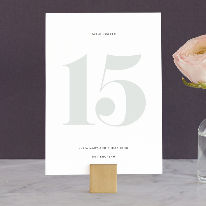 """""""His and Hers"""" - Wedding Table Numbers in Dusk by Erin Deegan."""