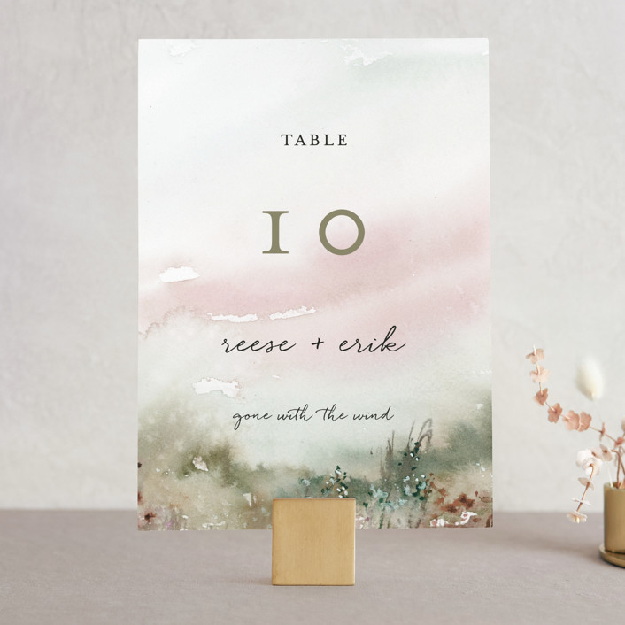 """""""Sweet Setting"""" - Wedding Table Numbers in Carnation by Lindsay Megahed."""