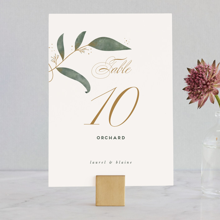 """Love Grows"" - Wedding Table Numbers in Leaf by Leah Bisch."