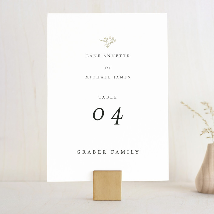 """Sense and Sensibility"" - Wedding Table Numbers in Cloud by Design Lotus."