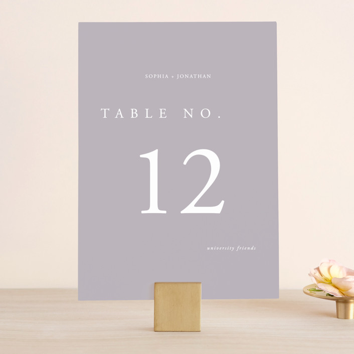 """""""The Minimalist"""" - Wedding Table Numbers in Air by lulu and isabelle."""