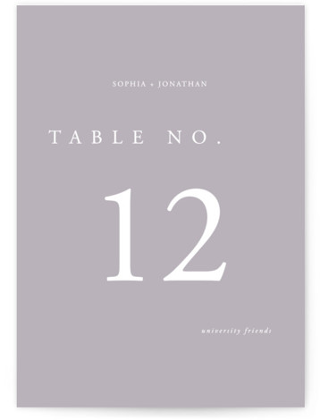 This is a classic and formal, simple and minimalist, black and white Table Numbers by lulu and isabelle called The Minimalist with Standard printing on Signature in Classic fold over (blank inside) format. A clean, minimalist, gender neutral wedding invitation ...